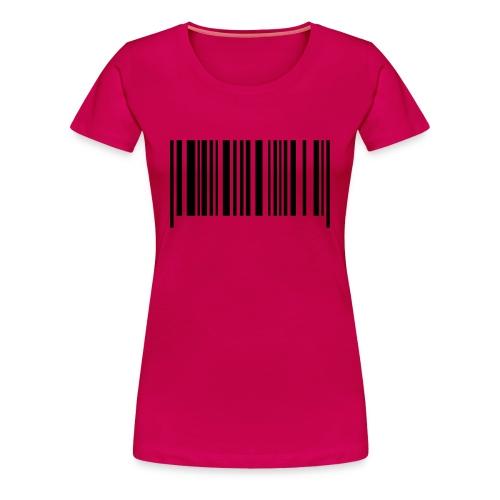 Barcode^^ - Vrouwen Premium T-shirt