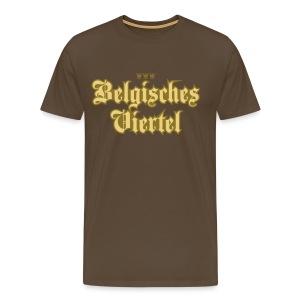 Belgisches Viertel (Frakturschrift) - Männer Premium T-Shirt