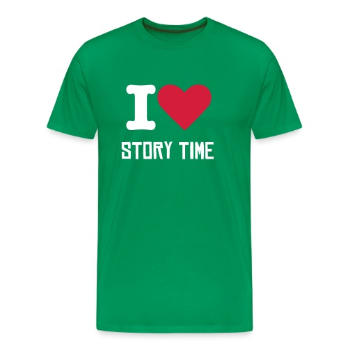 I LOVE STORY TIME  - Men's Premium T-Shirt