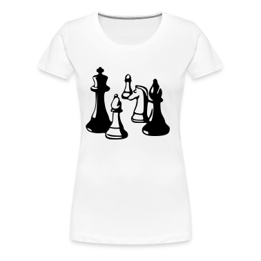 White Chess Women's Tees (short sleeved)
