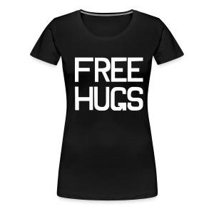 FREE HUGS Zwart - Vrouwen Premium T-shirt