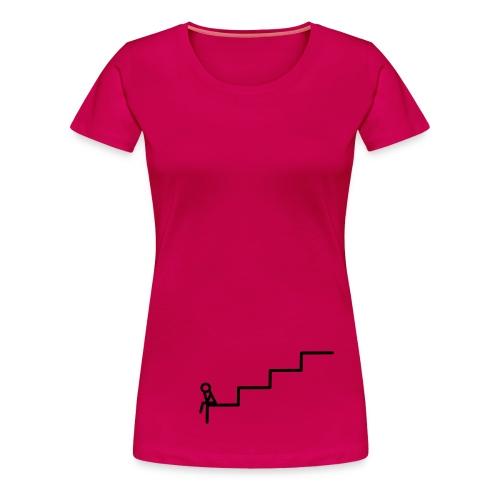 Die Treppe Girlie Pink - Frauen Premium T-Shirt