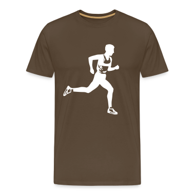 Brown Marathon runner Men's Tees (short-sleeved)