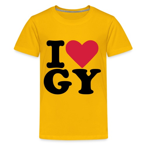 tee-yellow-LoveGY - Teenage Premium T-Shirt