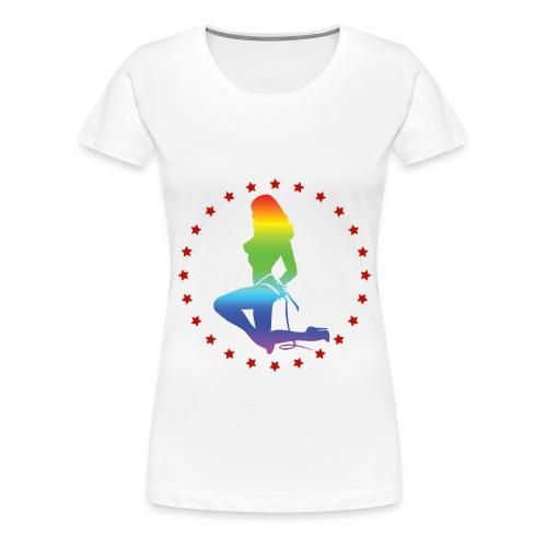 Sexy Rainbow Girl - Frauen Premium T-Shirt