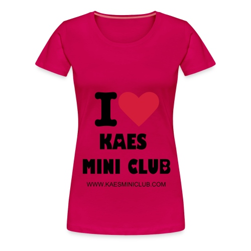 I love KAES MINI Club Pink Classic Women's - Women's Premium T-Shirt
