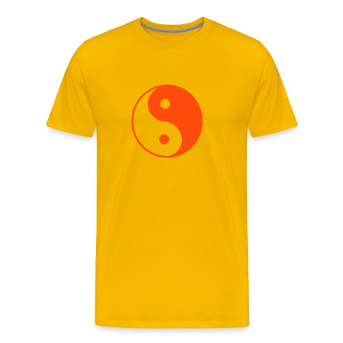 Yin Yang Yellow - Men's Premium T-Shirt