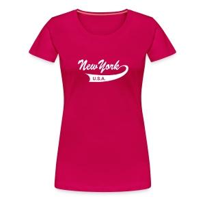 Girlie-Shirt NEW YORK USA pink - Frauen Premium T-Shirt