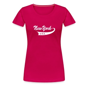 Girlie-Shirt NEW YORK USA pink - Frauen Premium T-Shirt