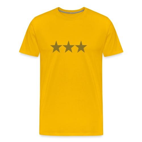 Basic Tshirt, all colours, Gold stars - Men's Premium T-Shirt