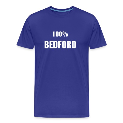 100% Bedford Blue n White - Men's Premium T-Shirt