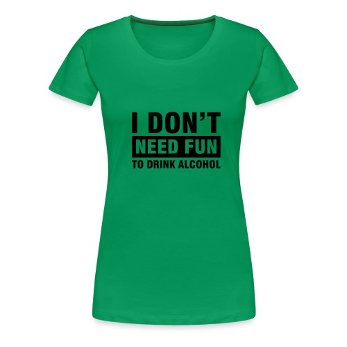 damtröja med text - Premium-T-shirt dam