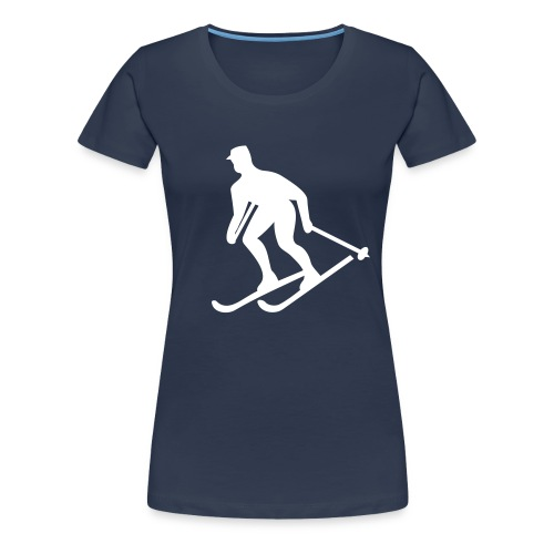 SkiSign - Marinblå - Premium-T-shirt dam
