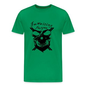 I,m waiting for you - green and black - Maglietta Premium da uomo