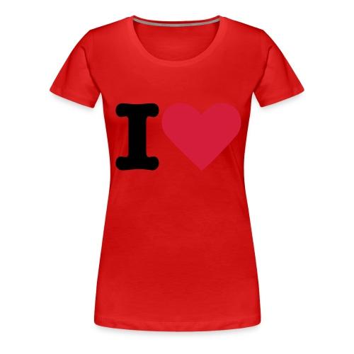 7Live - RedShirt I Love You - Frauen Premium T-Shirt
