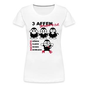 3 Affen Director's Cut - black/white girlie - Frauen Premium T-Shirt