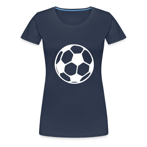 Football logo navy shirt - Women's Premium T-Shirt