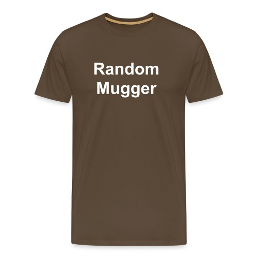 Random mugger, for a gentleman. - Men's Premium T-Shirt