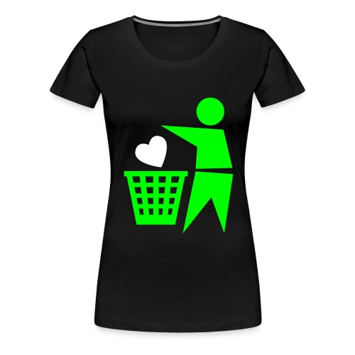 trow love away - Vrouwen Premium T-shirt