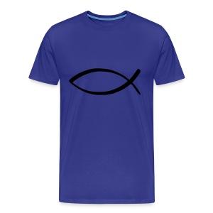 Jesus Fish (Hombre) - Camiseta premium hombre