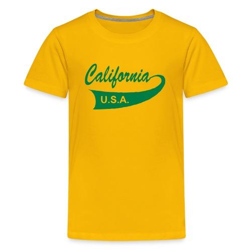 Kinder-T-Shirt CALIFORNIA USA gelb - Teenager Premium T-Shirt