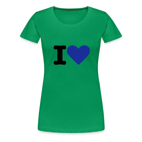I LOVE FEMALE GREEN AND BLUE - T-shirt Premium Femme