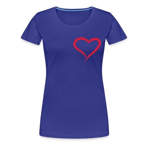 iCandi Blue Heart - Women's Premium T-Shirt