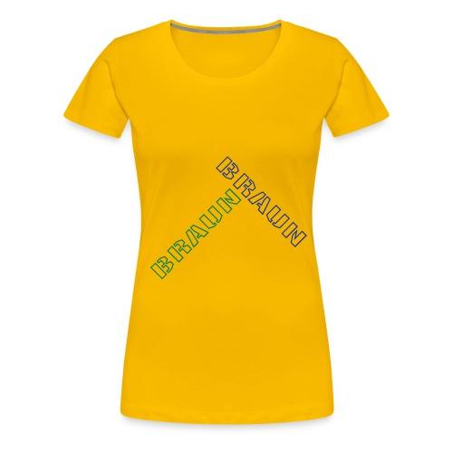 braun - Frauen Premium T-Shirt