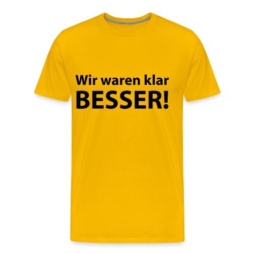 Fußball Shirt für Herren - Männer Premium T-Shirt