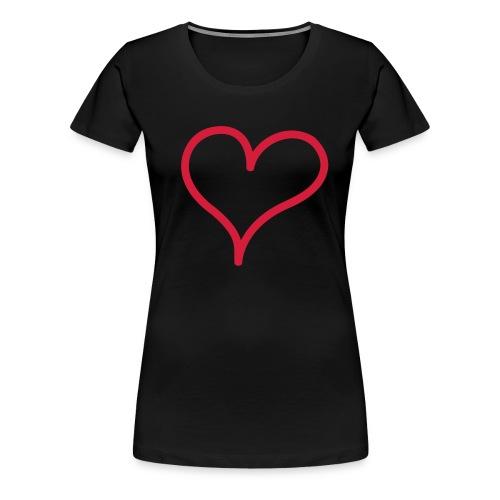 sydänpaita - Naisten premium t-paita