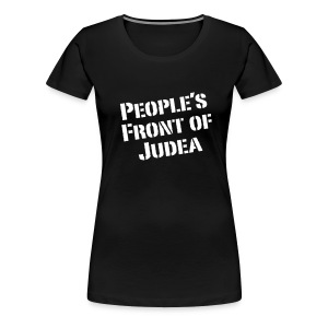 continental classic womans top T shirt Peoples front of Judea black - Women's Premium T-Shirt