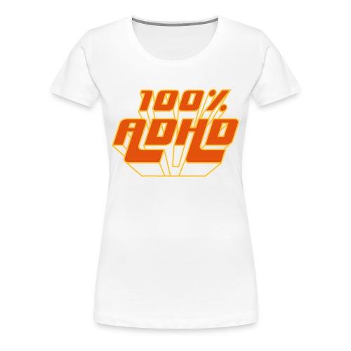 adhd + volleyball - Vrouwen Premium T-shirt