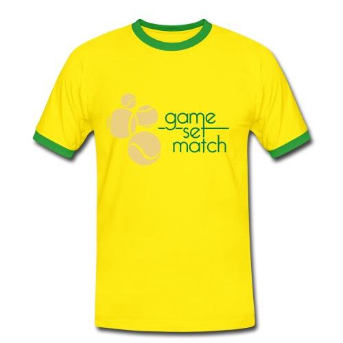 Tennis - Männer Kontrast-T-Shirt
