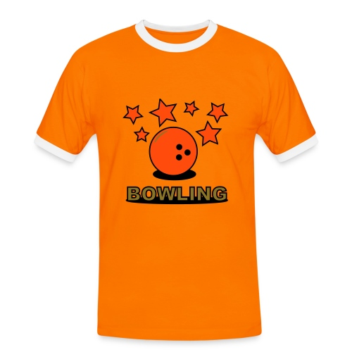 Bowling - Männer Kontrast-T-Shirt