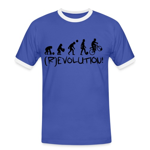 (R)Evolution - Männer Kontrast-T-Shirt
