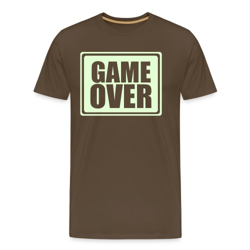 Game Over, Shit Happens - Mannen Premium T-shirt