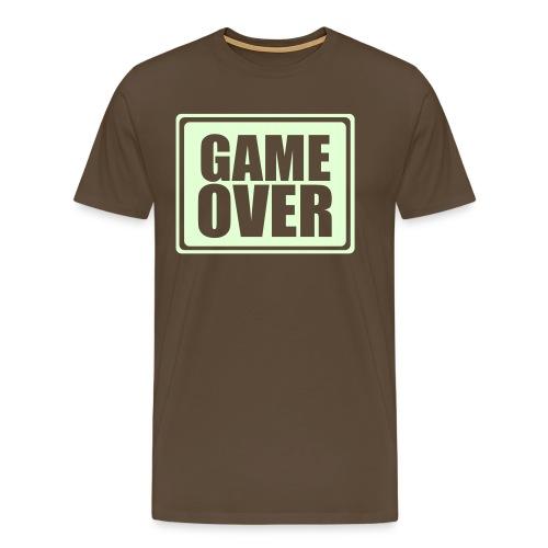 Game Over, Shit Happens - Mannen Premium T-shirt