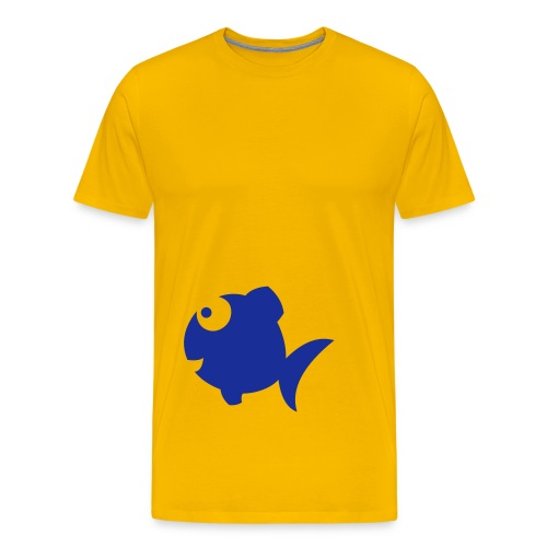 Yellow and blue fish tee - Men's Premium T-Shirt