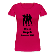 T-Shirts ~ Women's Premium T-Shirt ~ Angels - Personalised Text Front Only