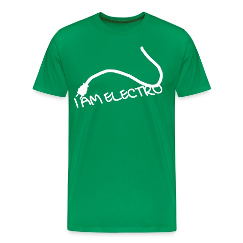 I AM ELECTRO CABLE - Herre premium T-shirt