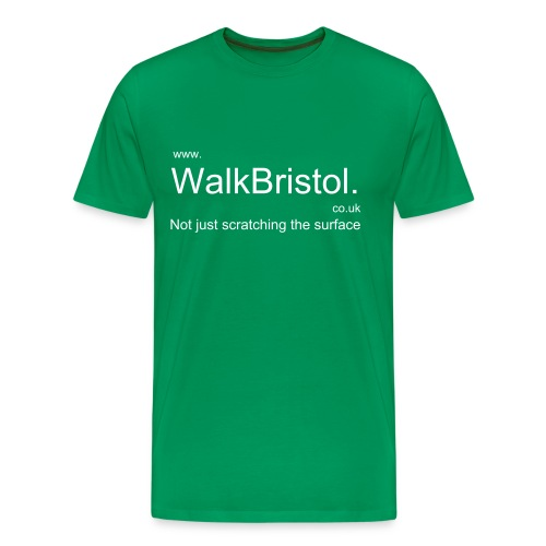 Walk Bristol Man's bottle breen T-shirt - Men's Premium T-Shirt