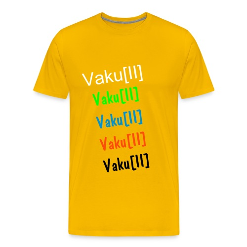 Vaku[II] s5 Yellow - Premium T-skjorte for menn