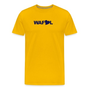 WAFLL (YOUR OWN TEXT & NUMBER) - Men's Premium T-Shirt