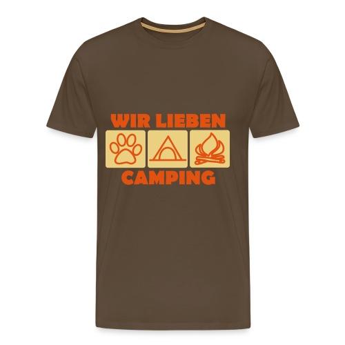 Wir lieben Camping - Männer Premium T-Shirt