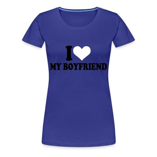Boyfriend - Dame premium T-shirt