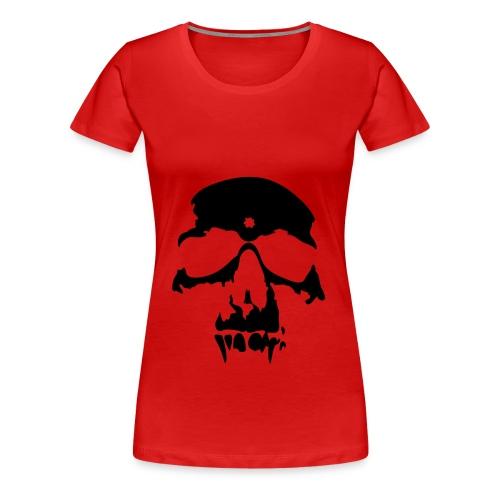 Camiseta con calavera (roja) - Camiseta premium mujer