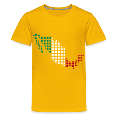 Yellow Mexico Kid's Shirts