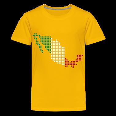 Yellow Mexico Kid's Shirts