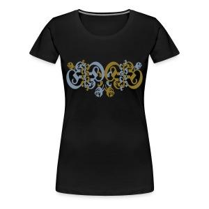girly blackletter 2 - Frauen Premium T-Shirt