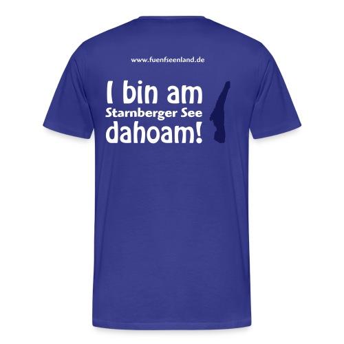I bin am Starnberger See dahoam! - Männer Premium T-Shirt